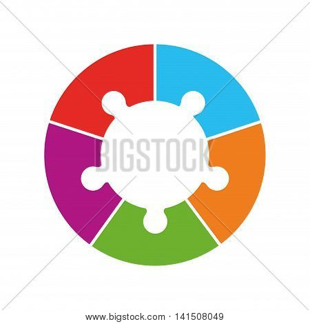 puzzle circle jigsaw game figure icon. Isolated and flat illustration. Vector graphic