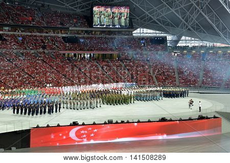 National Day Parade Rehearsal 2016 In Singapore