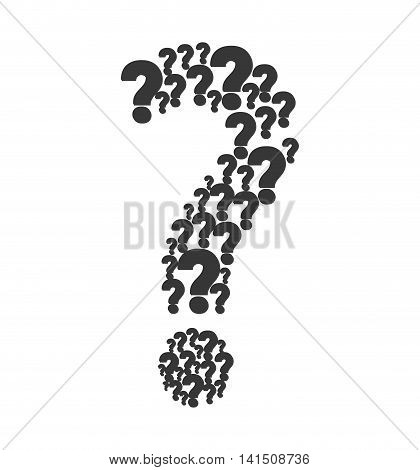 question mark ask symbol problem icon. Isolated and flat illustration. Vector graphic