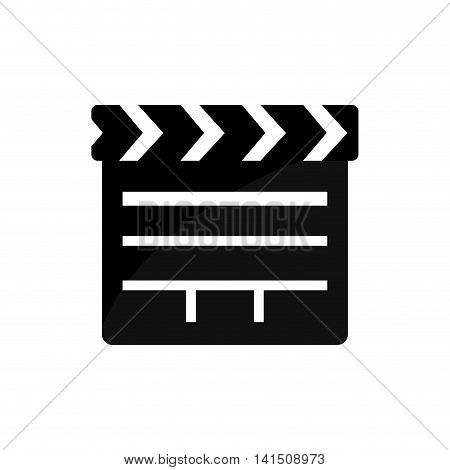 clapboard film movie cinema icon. Isolated and flat illustration. Vector graphic