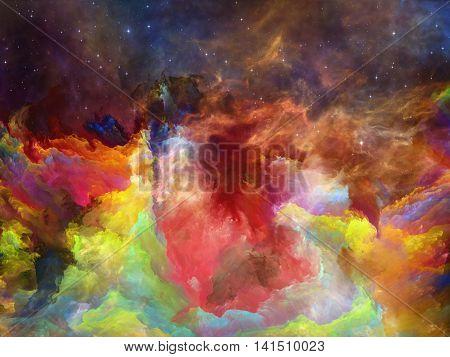 The Darkness Of Space Nebula
