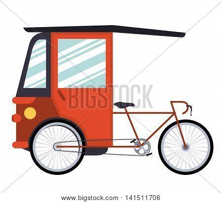 rickshaw india isolated icon design, vector illustration  graphic