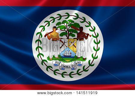 National Flag Of Belize