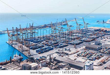 Barcelona Cargo Port Skyline