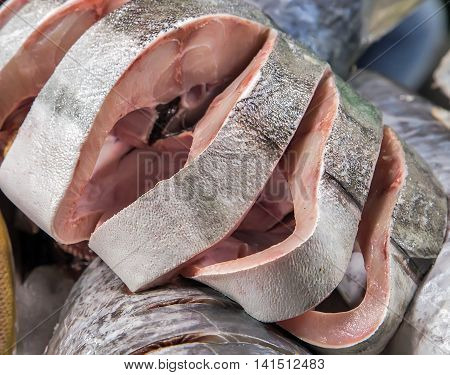Meat Fish Seafood On Ice