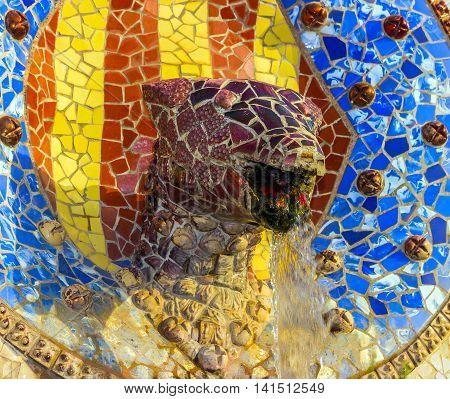 Medallion With Head Snake Gaudi