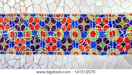 Mosaic Wall Barcelona Gaudi