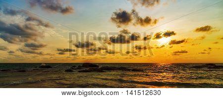 Sunrise Wave Panorama