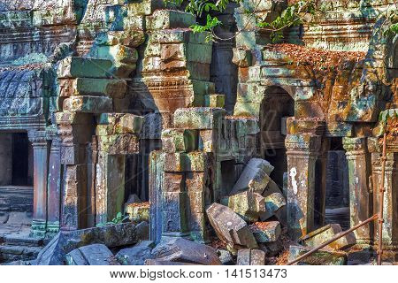 Ruins Angkor Wat, Khmer Temple Complex, Asia. Siem Reap, Cambodia.