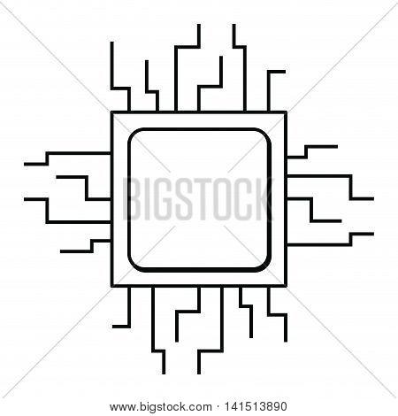 computer processor isolated icon design, vector illustration  graphic