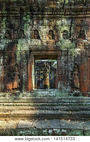 Bas-relief Angkor Wat, Khmer Temple Complex, Asia. Siem Reap, Cambodia.