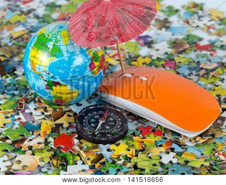 Beach Umbrella In Puzzle