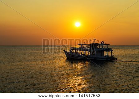 Fisherman Boat Landscape