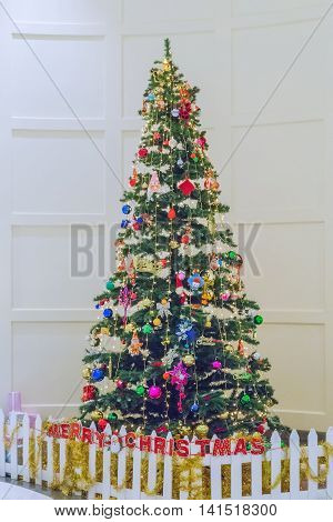 Christmas Tree And Presents Colorful Decoration