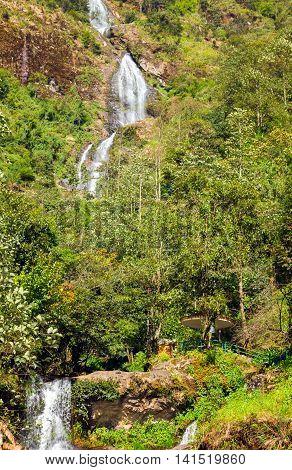 Thac Bac Waterfall Silver Falls In Sapa Vietnam