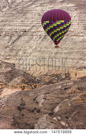 Hot Air Balloon Is On Cappadocia