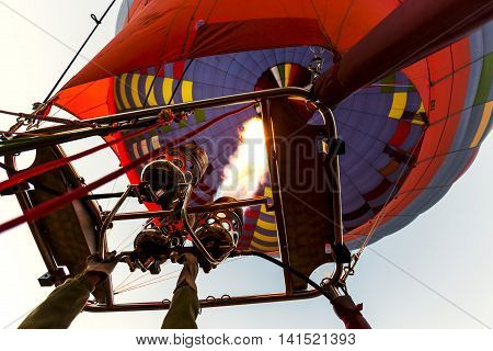Preperation Of A Hot Air Balloon, Cappadocia, Turkey