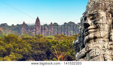 Monument Bayon Temple, Angkor, Cambodia