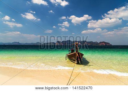 Wooden Boat Koh Phi Phi Thailand