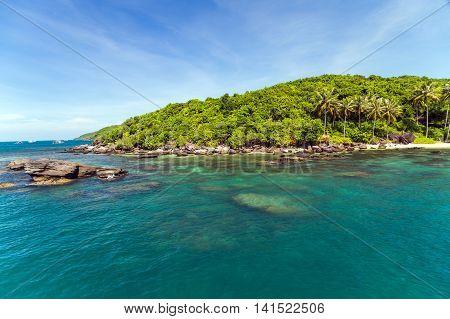 Tropical Rainforest Island Sea