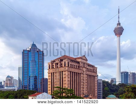 tower in Kuala Lumpur Malaysia technology broadcasting television,