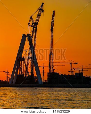 Dubai At The Sea Sunset
