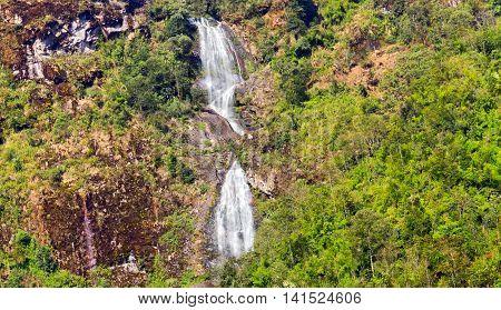 Waterfall Silver Falls In Sapa Vietnam