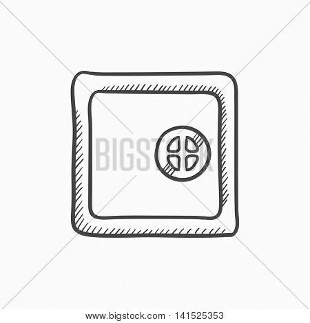 Safe vector sketch icon isolated on background. Hand drawn Safe icon. Safe sketch icon for infographic, website or app.