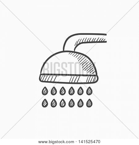 Shower vector sketch icon isolated on background. Hand drawn Shower icon. Shower sketch icon for infographic, website or app.
