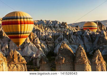 Two Hot Air Ballon, Cappadocia, Turkey