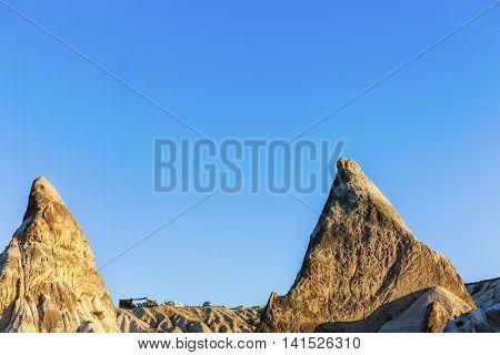 Conic Landscape Forms In Cappadocia, Turkey