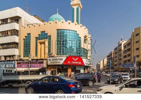 Dubai Street Shop And Market.