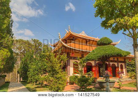 Monastery Architecture Vietnam.