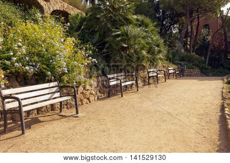 Bench In The Park Guell