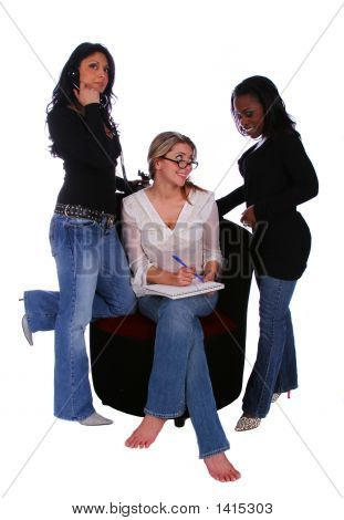 Group Of Diversity Women Discussing