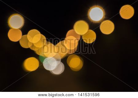 Blurred light street lamps as a the background