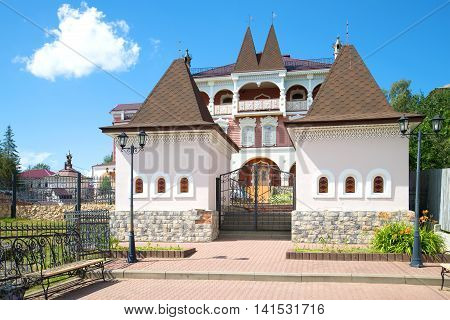 MYSHKIN, RUSSIA - JULY 13, 2016: At the entrance in the