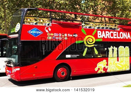 Tourist Bus In Barcelona
