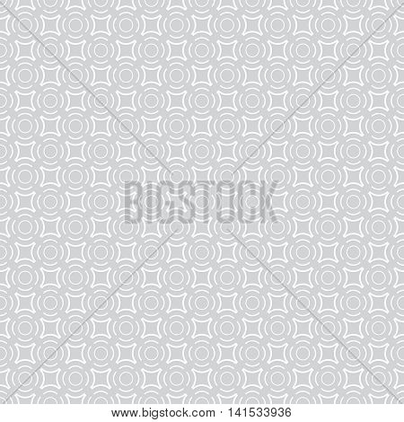 Seamless pattern. Modern stylish geometric texture with repeating dashed circles rhombuses dots. Vector contemporary design