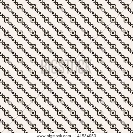 Seamless pattern. Classical diagonal texture with regularly repeating geometric shapes rhombuses crosses. Vector element of graphical design