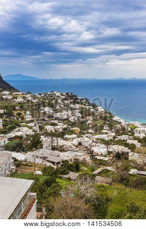 Landscape Of Capri Island, Italy
