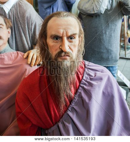 St. Petersburg, Russia - 9 April, The figure of Ivan the Terrible, 9 April, 2016. Wax Museum Gallery large Gostiny Dvor.