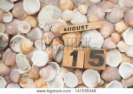 full summer at 15 august with sea beaches and holidays