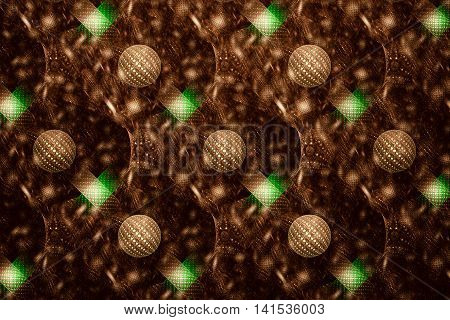 Fractal pattern in the form of a mosaic of the balls and semicircular lines.