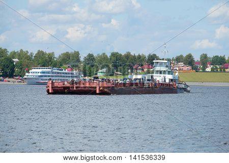 MYSHKIN, RUSSIA - JULY 13, 2016: The tug