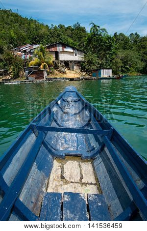 A boat trip to a longhouse in Sarawak, Malaysia.