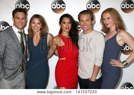 LOS ANGELES - AUG 4:  Ryan Guzman, Aimee Teegarden, Sepideh Moafi, Kevin Zegers, Kate Jennings Grant at the ABC TCA Summer 2016 Party at the Beverly Hilton Hotel on August 4, 2016 in Beverly Hills, CA