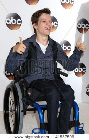 LOS ANGELES - AUG 4:  Micah Fowler at the ABC TCA Summer 2016 Party at the Beverly Hilton Hotel on August 4, 2016 in Beverly Hills, CA