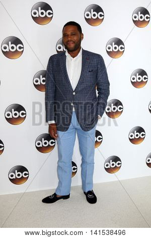 LOS ANGELES - AUG 4:  Anthony Anderson at the ABC TCA Summer 2016 Party at the Beverly Hilton Hotel on August 4, 2016 in Beverly Hills, CA