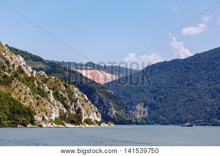 Danube River And Mountains